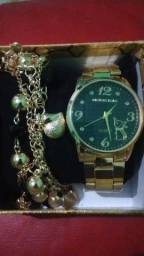 Relógio Feminino c/ pulseira pandora