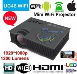 Mini Projetor Led Profissional Uc46 1200 130?? Lumen Wi-fi Miracast