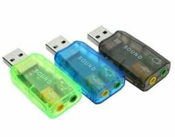 USB Sound Card 3D / Placa Som