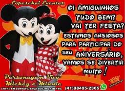 Personagem vivo Mickey e Minnie