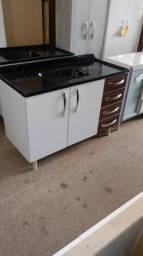 Pia de cozinha balcão 1,20m com pia Novos
