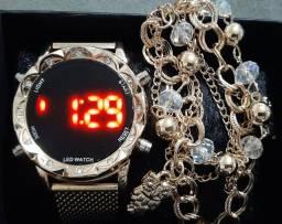 Relógio feminino Led Digital