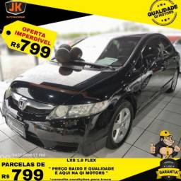 Honda Civic LXS 1.8 Preto- 2009 Automatico - 2009