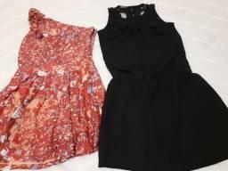 Vestidos semi novos (Tam P e M) 45,00 os dois