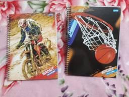 Cadernos P, M e universitário