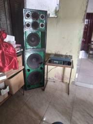Caixa de som E mesa de 8 canal, amplificador