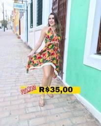 Título do anúncio: Vestido colorido
