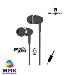 Fone de Ouvido P2 Intra Auricular c/ Microfone Super Bass Sumexr SEJ-B13
