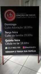Cavalete Banner Placa 2Faces Promoção
