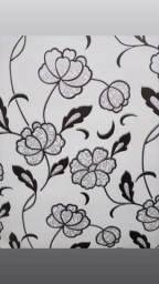 Título do anúncio: Papel de Parede Floral P&B