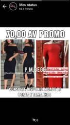 Vestido midi canelado ombro a ombro preto e vermelho p ao gg