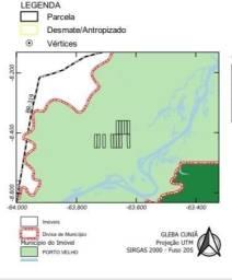 Vendo área rural dividida e 12 áreas individuais sentido Humaitá, venda por hectares!