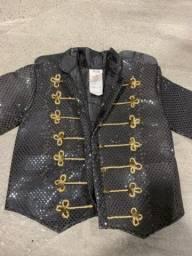 Título do anúncio: Fantasia Jaqueta Michael Jackson luxo