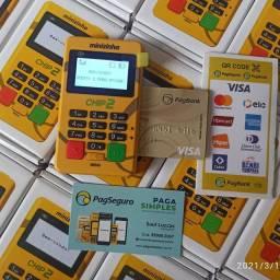 Máquininha de Cartão PagSeguro Minizinha Chip2