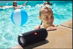 caixa de som bluetooth JBL original flip 5 preta s uso na caixa top de qualidade