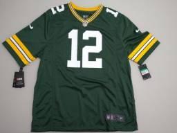 Título do anúncio: Camisa Jersey NFL Nike Original Green Bay Aaron Rodgers XL - Nova