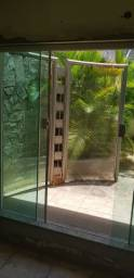 Biombo divisória de vidro