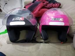 Título do anúncio: Promoção 2 capacetes praticamente novos