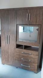 Guarda roupa médio semi novo com espelho rotativo - entrega grátis