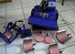 Máquina de estamparia 8 em 1+ materiais para estamparia