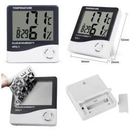 Título do anúncio: Relógio Digital Com Higrômetro e Termômetro Despertador HTC-1