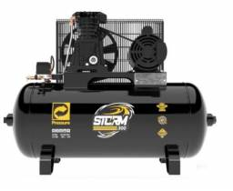 Compressor de Ar 10 Pés 2HP 100 Litros 110/220V Monofásico