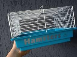 Gaiola com rodinha + bolinha de hamster
