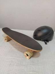 Título do anúncio: Skate Mini Cruiser Penny Kronik Bambu Red Nose Prof. + Capacete High One Prof.