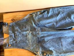Título do anúncio: Jardineira Jeans Vintage