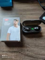 Fone Bluetooth com Case Powerbank