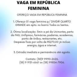 Vaga em república feminina