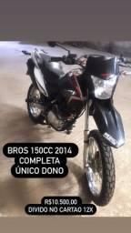 Honda nxr bros 150cc 2014 completa