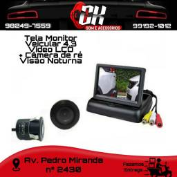 Título do anúncio: Tela Monitor veicular 4.3 Vídeo LCD + Câmera de ré visão noturna