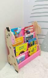 Rack Para Livros Infantil, Standbook Montessoriano Rosa