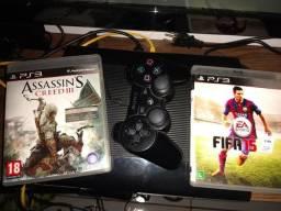 PS3 original travado 250 gb de HD top