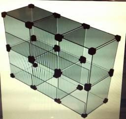 Baleiro de vidro com 6 nichos