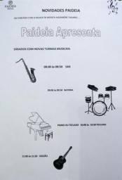 Aulas de Bateria, Sax, Violão, Piano ou teclado