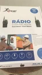 Rádio comunicador kit com dois rádios