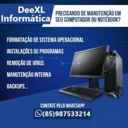 D - Técnico em Informática / Formatação / Conserto / PC / Notebook / Android / TvBox