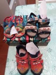 Sapatos que a criança deixa de usar rápido por isso está bem conservados wats 993393395