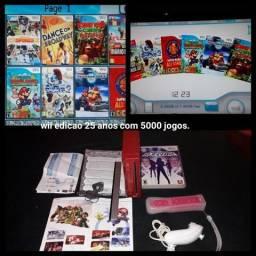 Wii edição 25 com 5000 jogos
