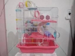 Gaiola Para Hamster Safari Rosa