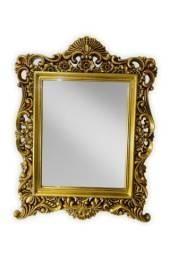 Espelho Luxo Colonial Dourado 64cm X 84cm Frete Grátis