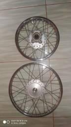 Par de rodas original pop100/110i biz 100/110/125