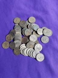 Lote 50 moedas de mil rés