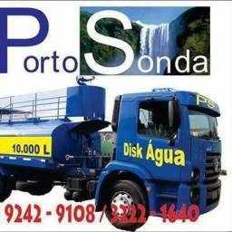 Abastecimento de água potável em caminhão pipa