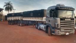 Scania 380 4x2 e bicaçamba randon