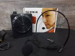 Microfone e Amplificador de Voz MK-502