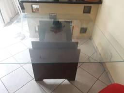 Mesa de vidro oito cadeiras ..  sem as cadeiras