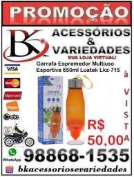 Garrafa Espremedor Esportiva 650ml -(Loja BK Variedades)